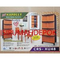 Bestseller Lemari Plastik 4 Susun 8 Pintu Napolly Crs Xu48 Motif Rotan