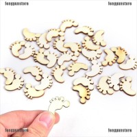 【FYS】100PCS Natural Wooden Cute Baby Foot Spacers Handmake Show
