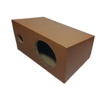 Box Speaker 6 inch Coklat Miring