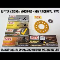 GEARSET/GIRSET/GIR SET SSS 428 GOLD VIXION/NEW VIXION/NVL RANTAI HSBT
