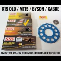 GEARSET/GIRSET/GIR SET SSS 428 BLUE RACING R15/XABRE RANTAI 140 HSBT