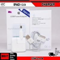 Charger Ipad 1 2 3 12W Original 100% 2.4A USB Apple Ori Fast