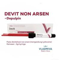 devit s / devitalisasi non arsen / devitec / depulpin