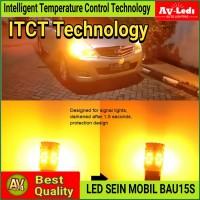 LAMPU LED SEIN MOBIL Bayonet PY21W 1156 BAU15S Super Canbus XTreme VR2 - Orange