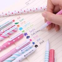 Grocely PP73 pulpen gel motif 1 set 10 warna tulisan lucu imut