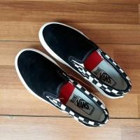 Sepatu Vans Slip On Moderica Checkerboard Black White Premium Quality