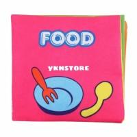 Softbook Food / buku bantal / mainan bayi / buku bayi