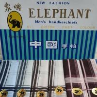 sapu tangan pria merk gajah / elephant