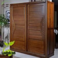 lemari pakaian jati pintu 4 klasik ( lemari baju,lemari jati pintu 4 )