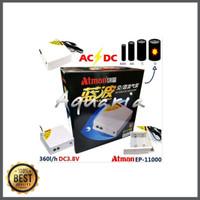 ATMAN EP-11000 AC/DC Air Pump Aerator Pompa Udara Listrik/Baterai