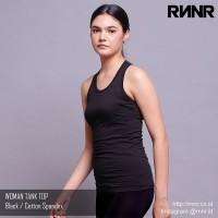 Baju Senam / Baju Yoga / Olahraga Wanita kaos Tank Top spandex hitam