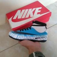 Promo Sepatu Futsal Anak Nike Mercurial X Cr7 High Biru Putih Import