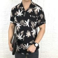Kemeja floral pria tropical lengan pendek baju pantai cowok