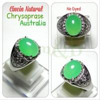 CINCIN NATURAL CHRYSOPRASE AUSTRALIA HQ. DISEBUT JUGA NEFRIT Murah