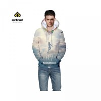 Casual 3D Panjang Hoodie Motif Marshmello Lengan Jaket DJ