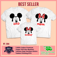 Kaos Baju Keluarga   Kaos Ultah   Kaos Couple   Motif Mickey Mouse 10