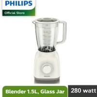 PHILIPS Blender HR 2106 / HR2106 Kaca - Putih ORIGINAL TERMURAH