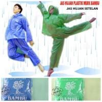 BAMBU Jas Hujan Plastik Ponco Plastik Sekali Pakai Disposable Raincoat