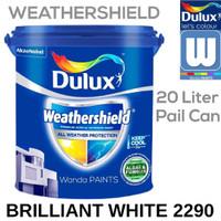 DULUX WEATHERSHIELD Cat Tembok Eksterior Brilliant White 2290 (25 KG)