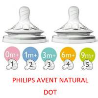 PHILIPS AVENT Teat Natural 2pcs | Nipple / Dot Natural Botol Susu