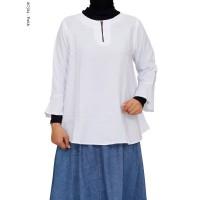 Baju Atasan Wanita warna putih bahan Katun