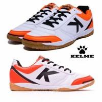 Sepatu Futsal Kelme K - Strong White Orange ORIGINAL