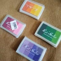 Bak Cap Stempel Gradasi Warna Warni, Stamp Pad, Craft Inkpad Scrapbook