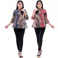 Baju Batik Wanita Modern Seragam Kerja Terbaru