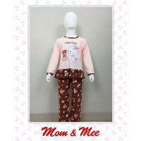 Piyama / Baju Tidur Anak Hello Kitty Bunga Coklat 2-6 - 2