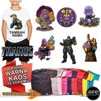 Kaos Thanos Baju anak Custom Nama 1-8 tahun unisex Cotton Combed 30s