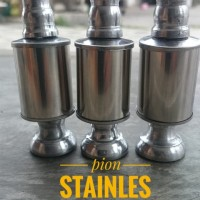 pion stainless silver ( aksesoris sangkar burung)