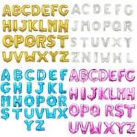 Balon foil huruf angka gold pink biru ulangtahun pesta 0-9 A-Z lengkap