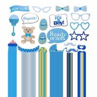 31Pcs Topeng Kumis untuk Properti Photo Booth Pesta Ulang Tahun Bayi