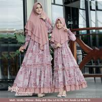 Gamis Couple Syar'i Amora Ibu dan Anak - Baju Muslim