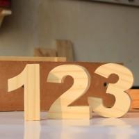 angka kayu - huruf kayu - nomor rumah