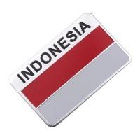 sticker motor mobil bendera indonesia emblem logo indo almunium flag