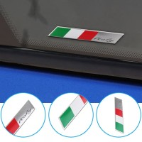 sticker motor mobil bendera itali italy emblem logo italy almunium