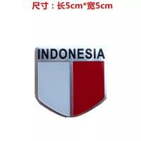 sticker motor mobil bendera indonesia emblem logo indo almunium flag A