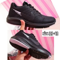sepatu nike full black /sepatu hitam polos nike