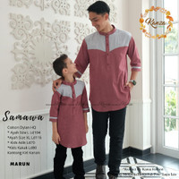 baju koko copel ayah dan anak samawa copel ori by kanza