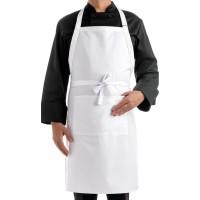 Celemek masak / Apron Putih Best Quality Full Katun Drill