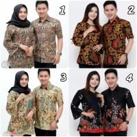 Baju Batik Couple Atasan Pria dan wanita Batik Hem & blouse
