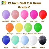 Balon Latex Lateks Karet Tiup Transparan Dop 12 inch / 11 Inch Grade C
