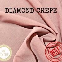 Kain Diamond Crepe/ Bahan jilbab (per 0.5 m)