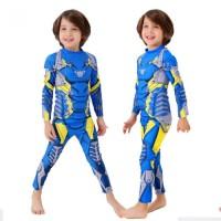 Baju Renang Iron Man Anak Laki-Laki 2 - 7 Tahun Biru Swimwear WS-1013