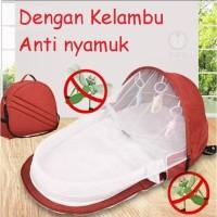 Baby Portable Bed | Tas Kasur Tempat Tidur Lipat Bayi dengan Kelambu