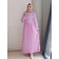 Gamis Aqila Lilac / maxi dress muslim / fashion gamis / best seller