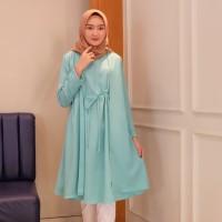 Zara Tunik Hijau Mint / Atasan wanita muslim / fashion / atasan
