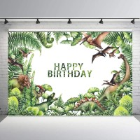 Dinosaur Photography Backdrop Baby Shower Party Birthday Forest