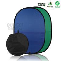 Reflector Nylon 2in1 Blue&Green 180cm Backdrop Background Photo Studio